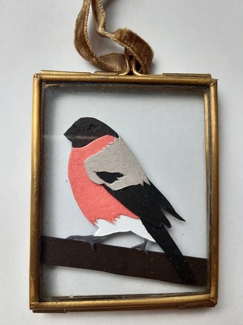 Bullfinch 1 Paper Cut Mini Frame