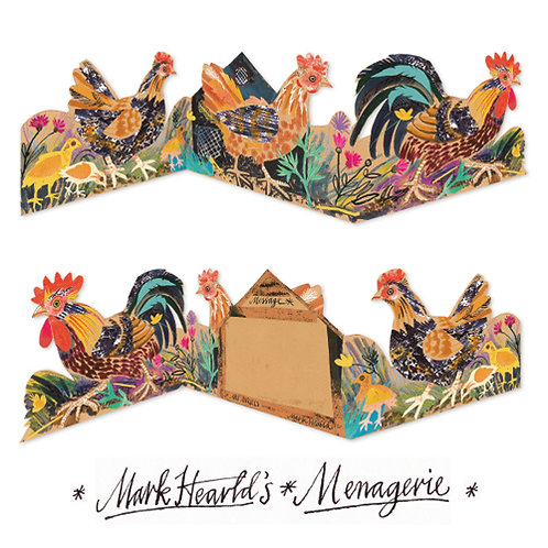 Mark Hearld's Menagerie Fold Out Card