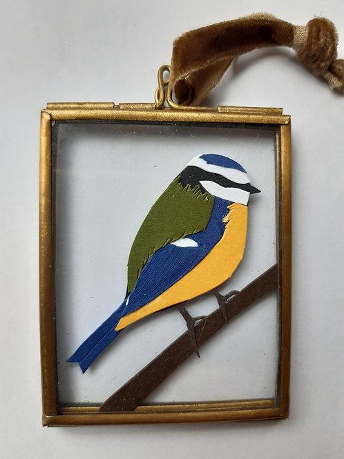Bluetit 1 Paper Cut Mini Frame