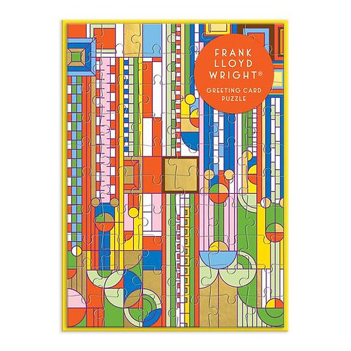 Frank Lloyd Wright Saguaro Forms & Cactus Flowers Greeting Card 60 Piece Puzzle