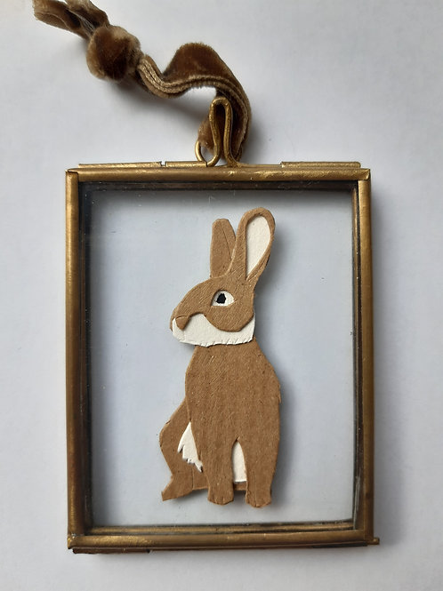 Bunny Paper Cut Mini Frame