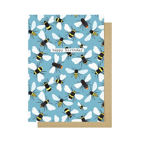 Happy Birthday Bees Card