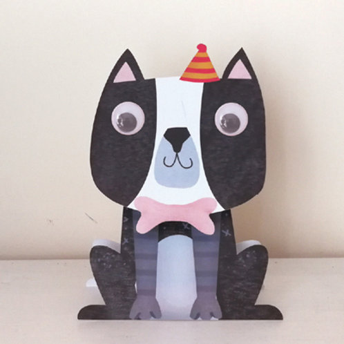 Wobbly Head Card: Birthday Dog