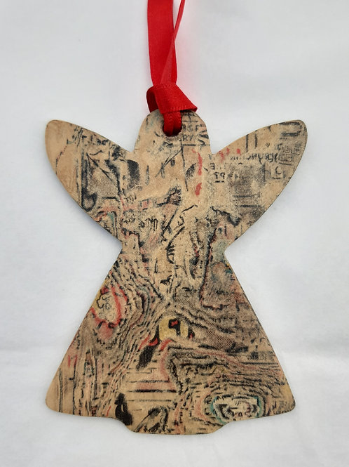Recycled Comic Book Angel Decoration