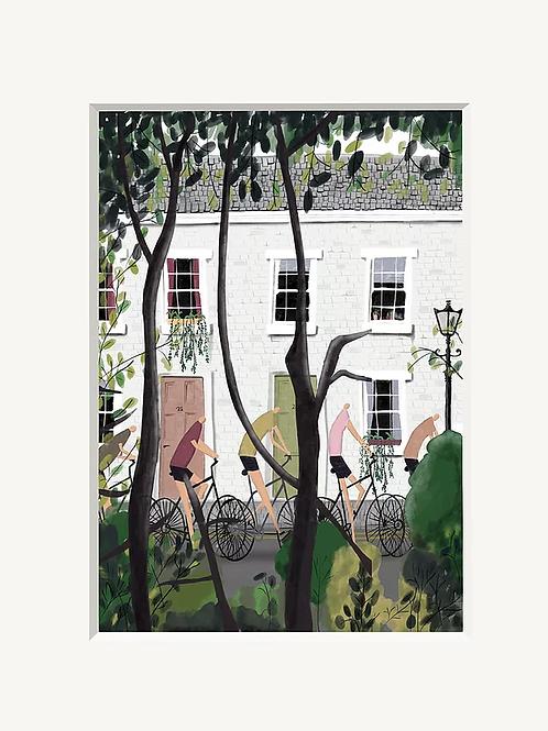 Sunday Cycle A4 Art Print