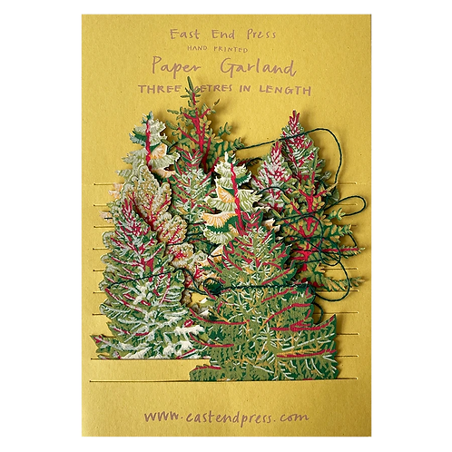 Handprinted Paper Christmas Tree Garland