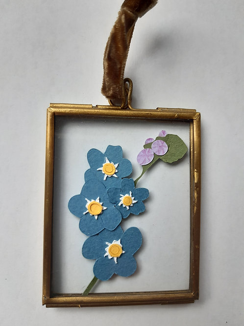 Forget Me Not 1 Paper Cut Mini Frame