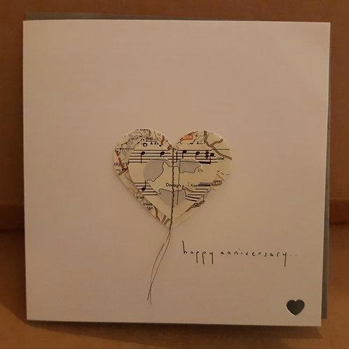 3D Heart Card: Happy Anniversary
