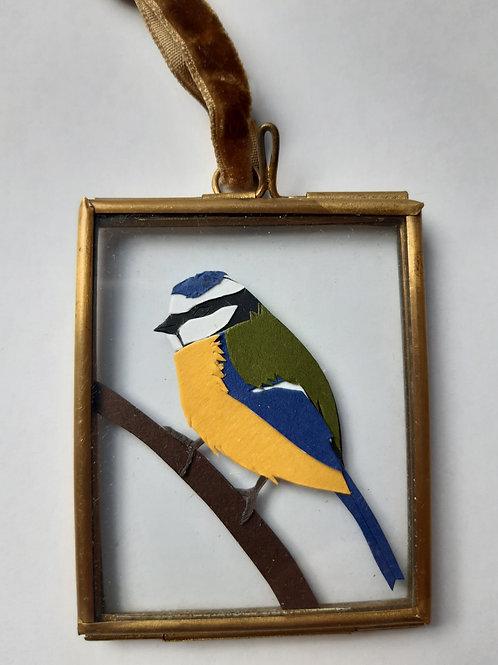 Bluetit 2 Paper Cut Mini Frame