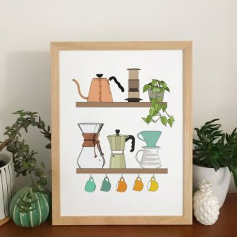 Coffee Shelf A3 Print