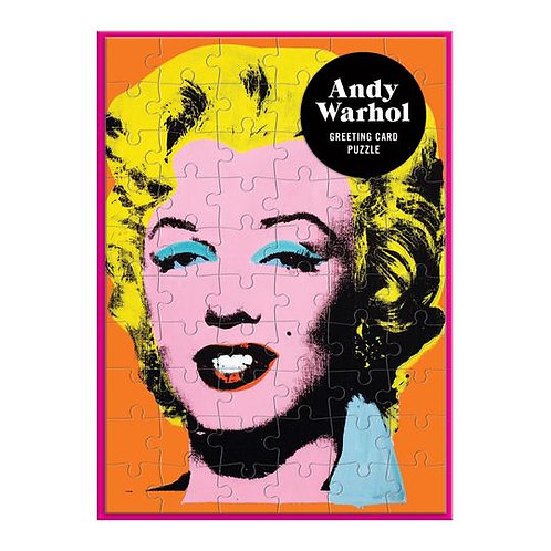 Andy Warhol Marilyn Greeting Card 60 Piece Puzzle
