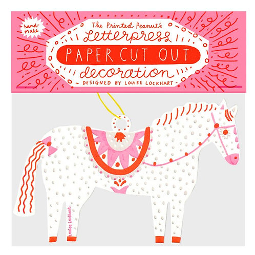 Letterpress Cut Out Decoration: Horse