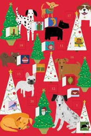 Fireside Dogs Advent Calendar Card