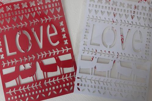 Paper Cut LOVE (Red)