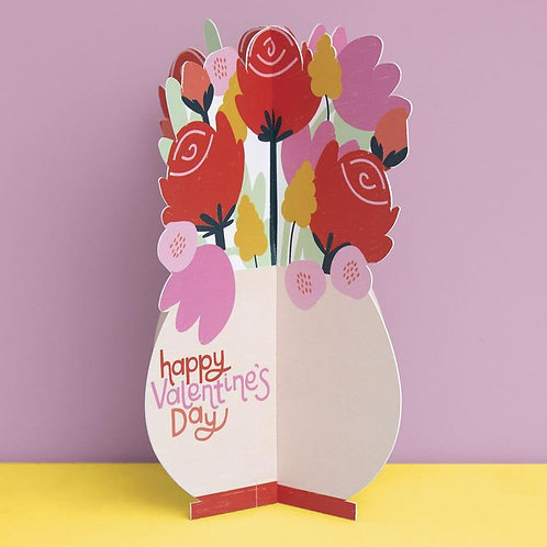 Fold Out 'Happy Valentines Day' Card
