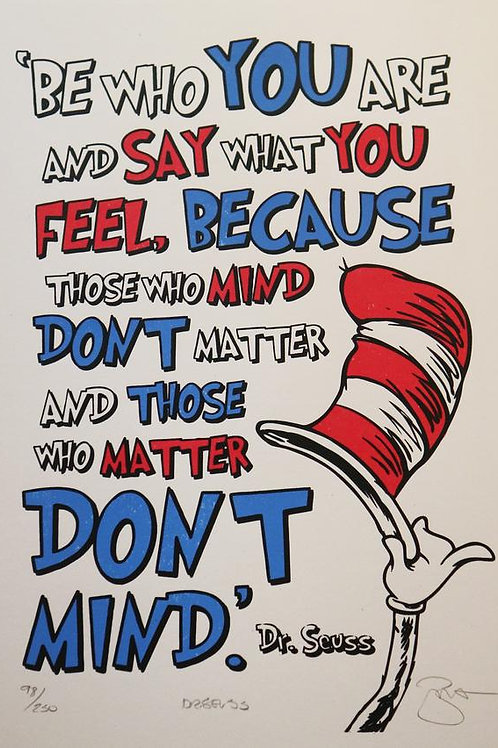 Dr Seuss A3 Limited Edition (300) Signed Print