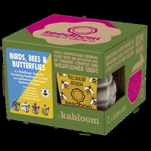Birds, Bees & Butterflies: Set of 4 Seedboms