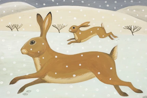 Hurrying Hare Notecards
