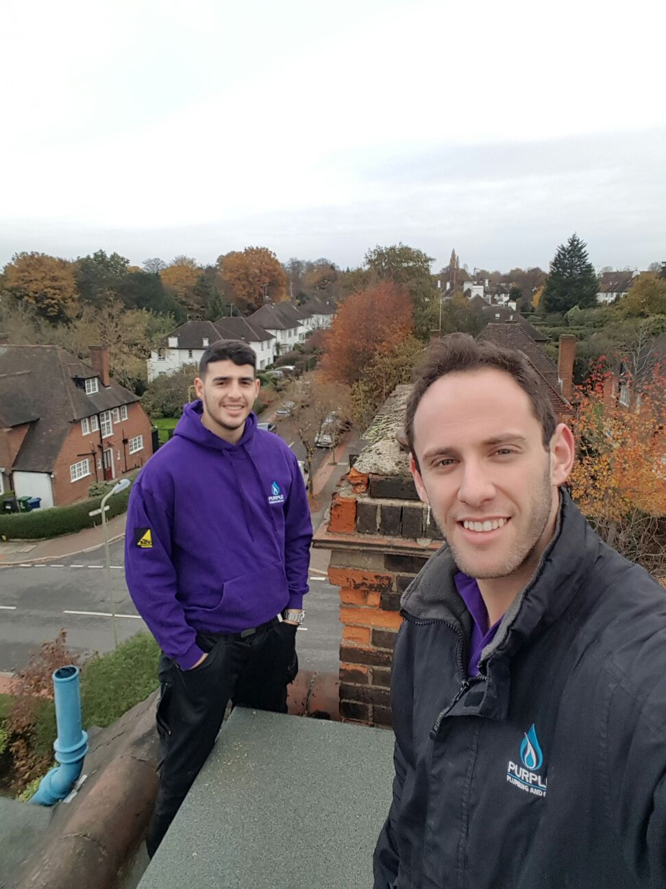 Me and my apprentice. On a roof