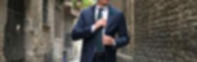 Model man in suit