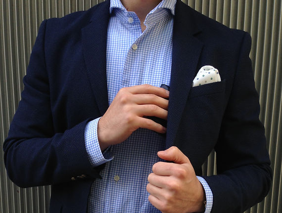 Man model pocket square