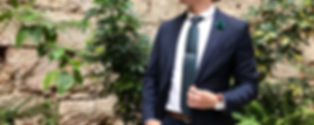 Man in suit combined with green plants