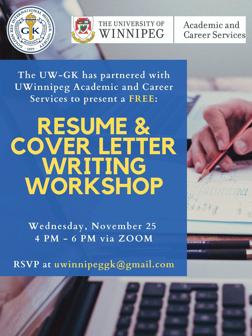 FREE Resume and Cover Letter Writing Workshop!