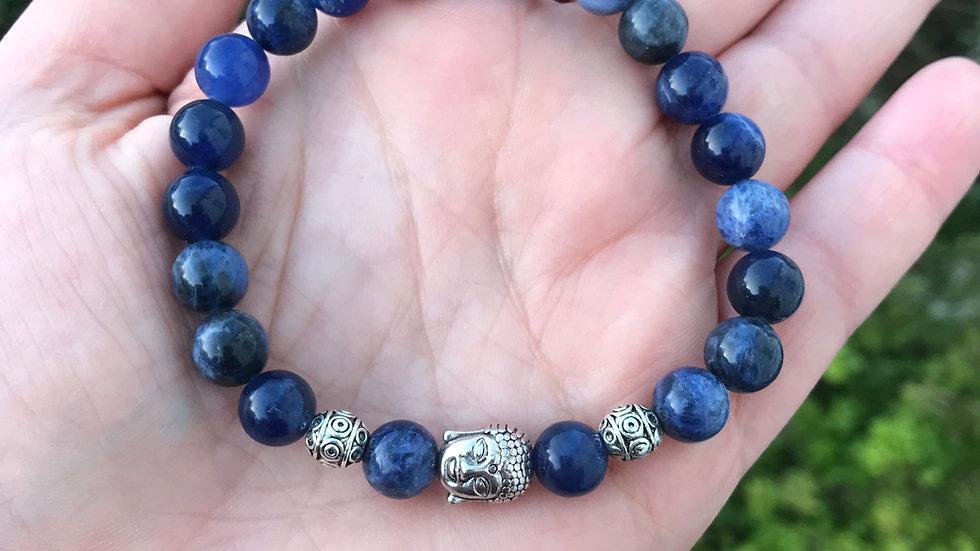 Sodalite Buddha Reiki Bracelet