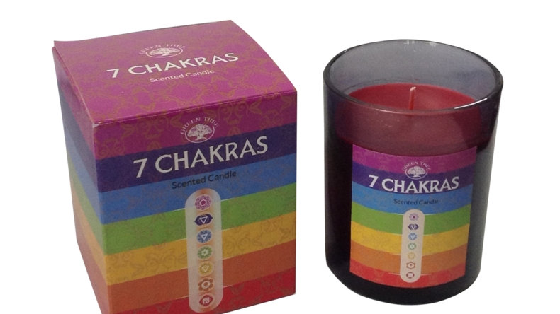 Green Tree 7 Chakras Scented Candle
