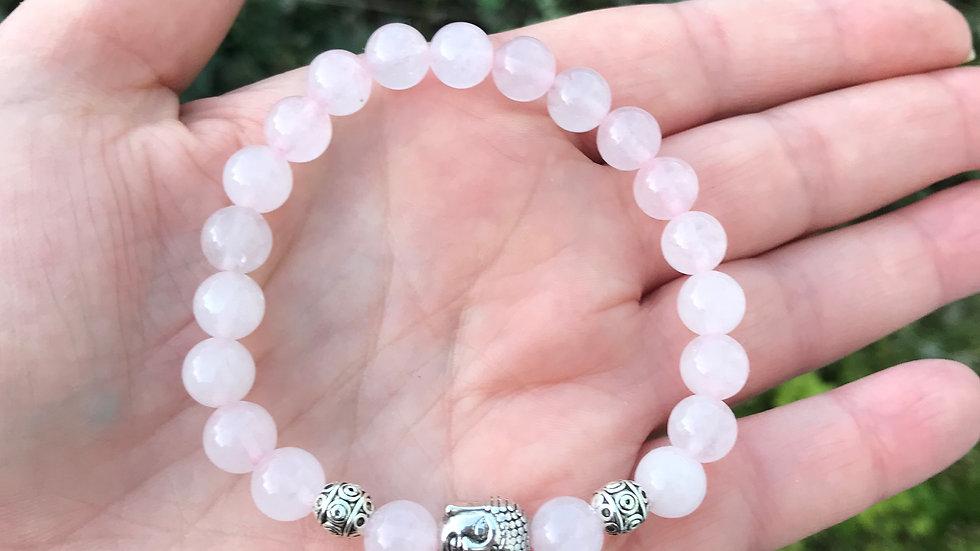 Rose Quartz Buddha Reiki Bracelet