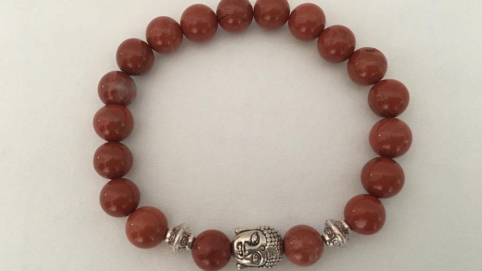 Red Jasper Buddha Bracelet