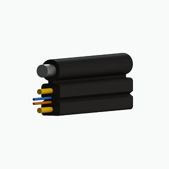 Cable drop plano fig. 8 FRP mensajero metálico