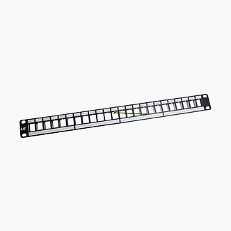 "Patch Panel 24 Puertos 1U 19"" Administrable"