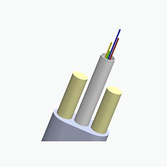 Cable drop plano bordes redondeados