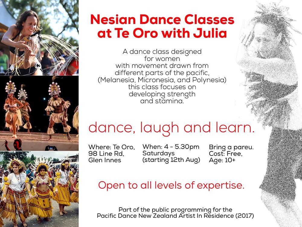Nesian Dance Classes at Te Oro with Julia