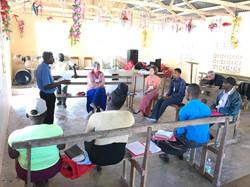 Rebecca teaching CHE in Haiti
