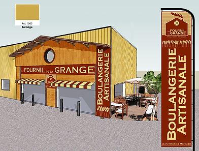 Projet de facade pour le Fournil de la Grange