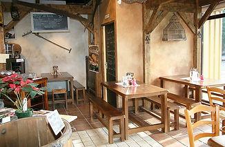 Espace restauration au Fournil de la Grange,le trois chocolats