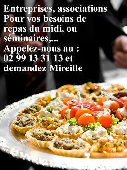 Traiteur au Fournil de la Grange, demanez Mireille