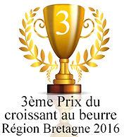 3ème prix du croissant au beurre région Bretagne 2016