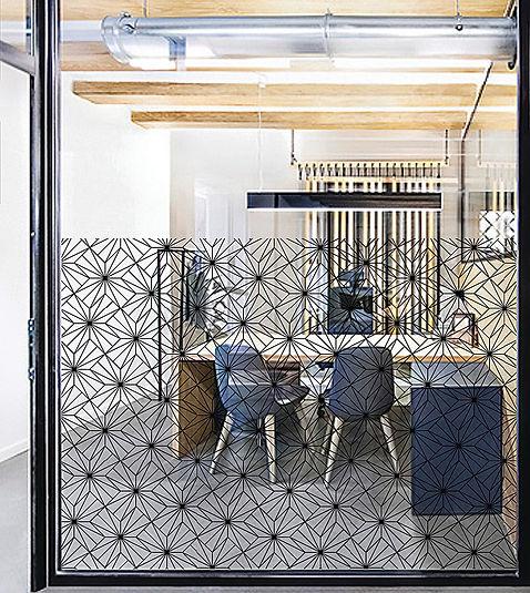 Tandm Design, vitrophanie dans ce bureau, tandm Nantes