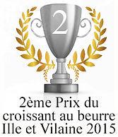 2 ème prix du croissant au beurre d'Ille et Vilaine 2015