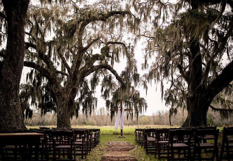 Oak Trees Spanish Moss Wedding Beaufort Bluffton South Carolina