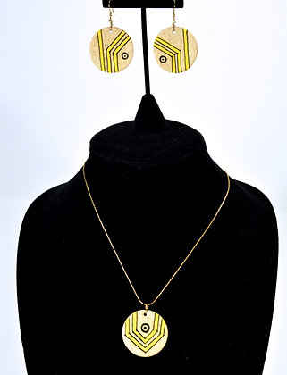 "Pathways Earthen""wear"" Necklace Set: Yellow"