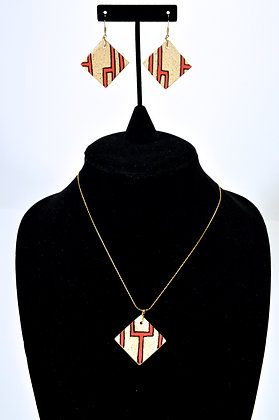 "Pathways Earthen""wear"" Necklace Set: Red Water"