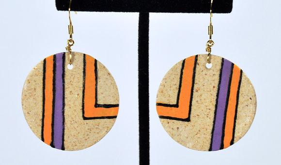 """Pathways Earthen""""wear"""" Set: Purple/GoldEarrings"""