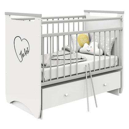 Кровать детская Атон ГЕРДА (попер.маятн., ящик, съемн.ламели)