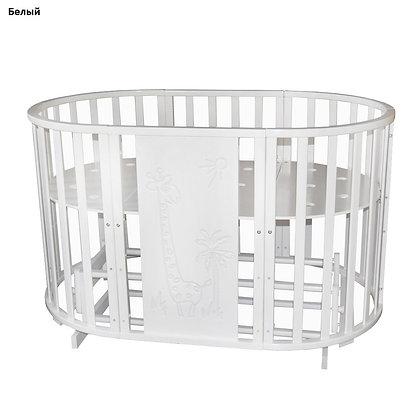 Кровать детская Антел СЕВЕРЯНКА-3 ЖИРАФ 6в1 круг-овал