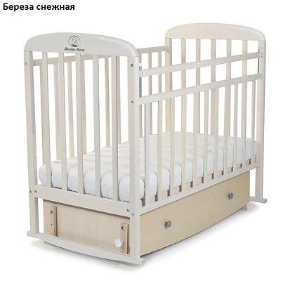 Кровать детская Альма-Няня МИЛАНА (маятник, опуск.планка, ящик)