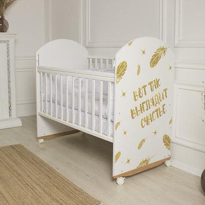 Кровать детская Indigo SHINY (фигур.спин., колесо-качалка)